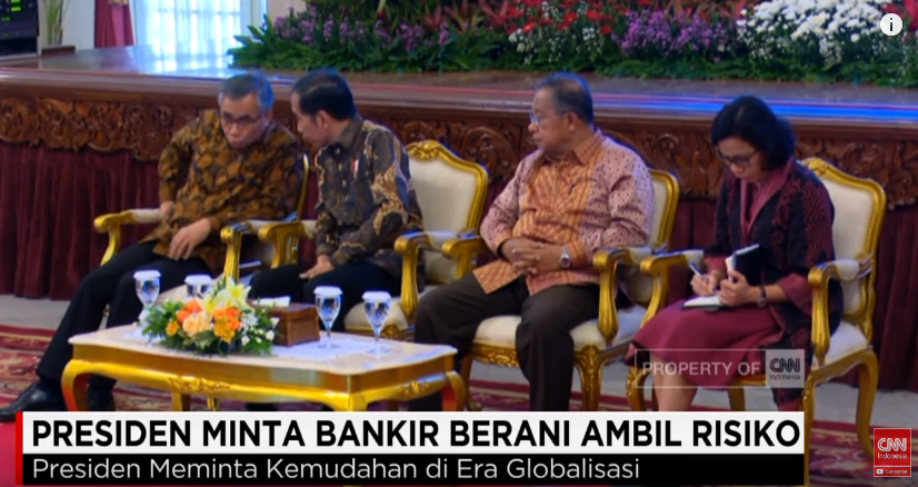 Presiden Jokowi Minta Bankir Berani Ambil Risiko