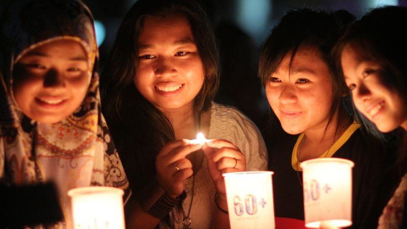 'Earth Hour Day', Ratusan Orang Lari Keliling Kebun Raya Bogor