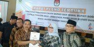 Penetapan Pemenang Pasangan Calon Bupati Dan Wakil Dengan Rapat Pleno Terbuka Periode 2018 – 2023 Di KPUD