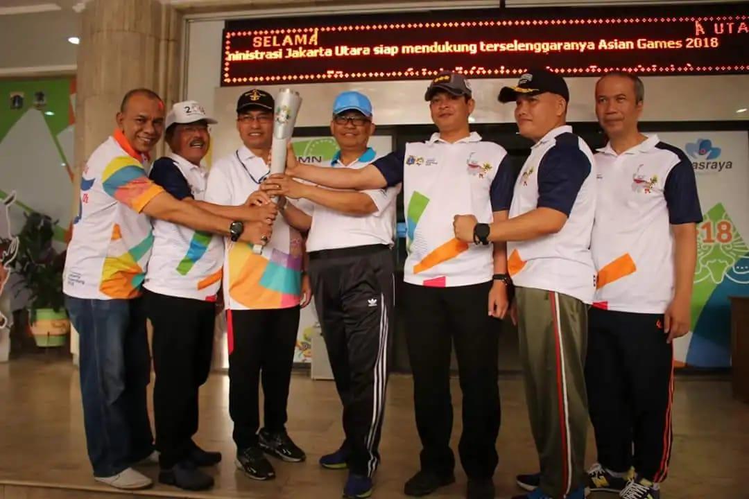 Torch Relay Asian Games 2018 Lintasi Pada 20 Titik Di Wilayah Jakarta Utara