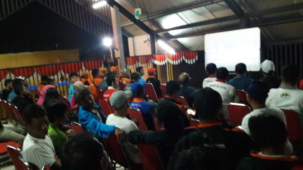 Warga Antusias Nobar Penutupan Asian Games di RPTRA Cilincing