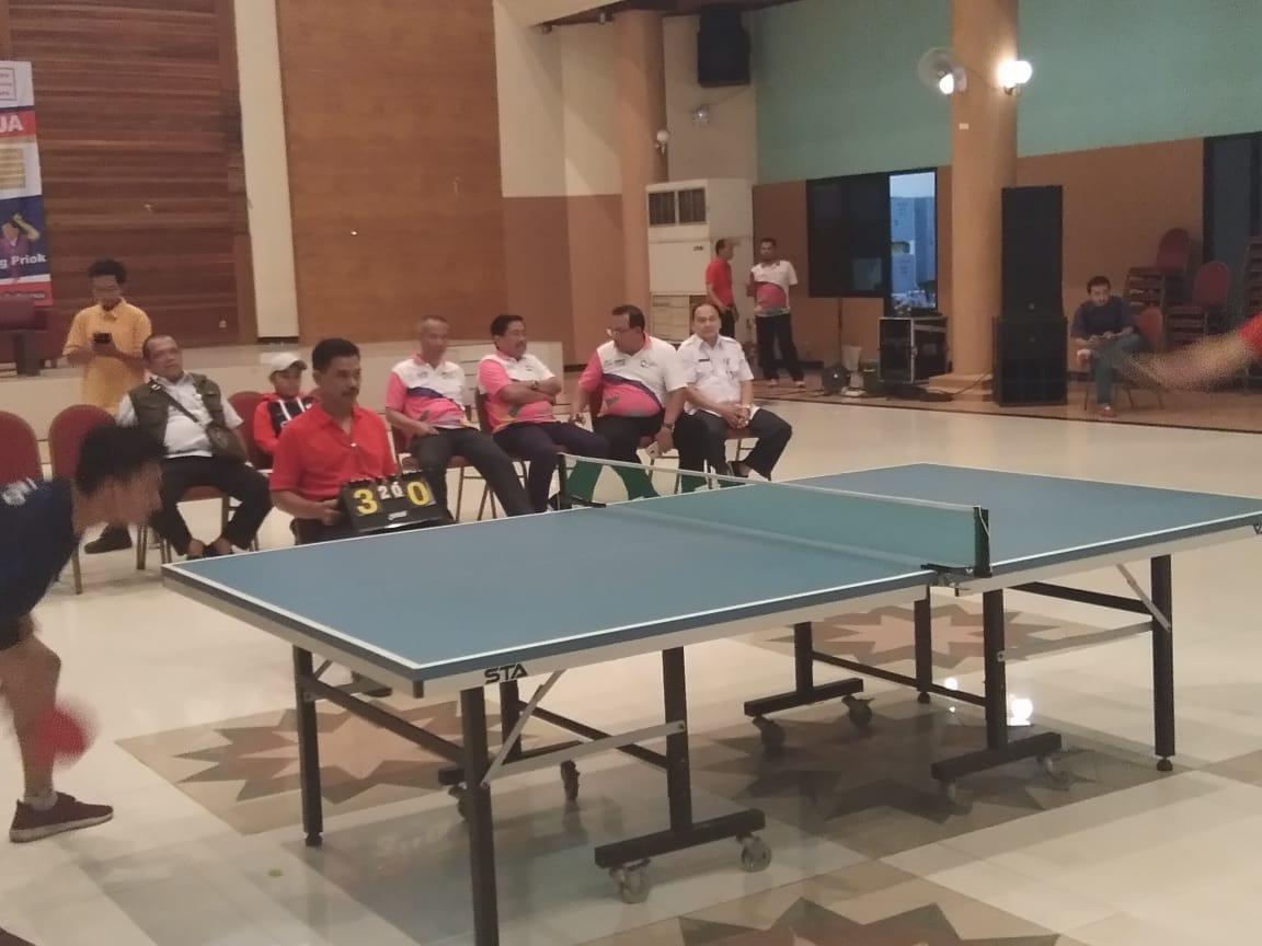 Festival Olahraga Rakyat Tingkat Kota Jakut Cabang Tenis Meja Dimulai