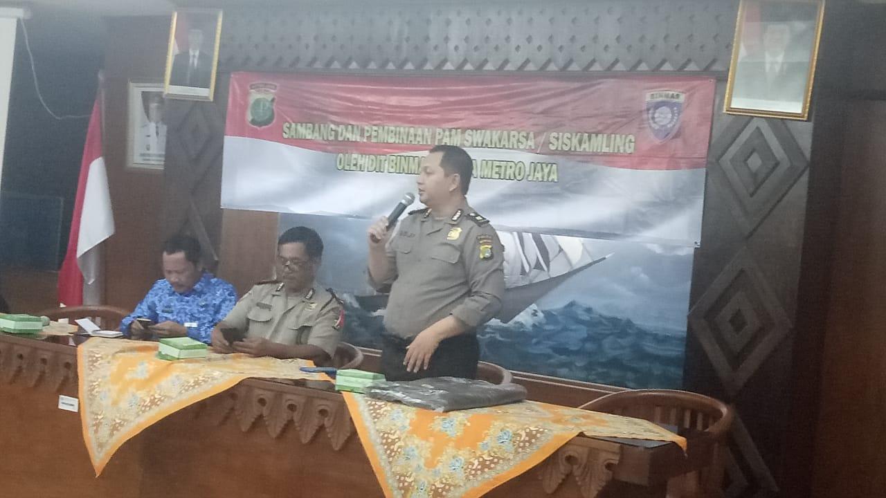 Sambang Dan Pembinaan Pam Swakarsa/Siskamling Oleh Dit Binmas Polda Metro Jaya