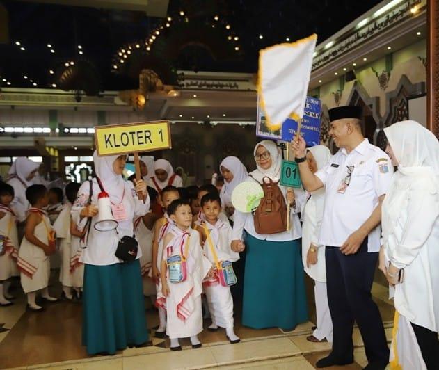 3.700 Anak TK Jakarta Utara Jalani Rangkaian Manasik Haji