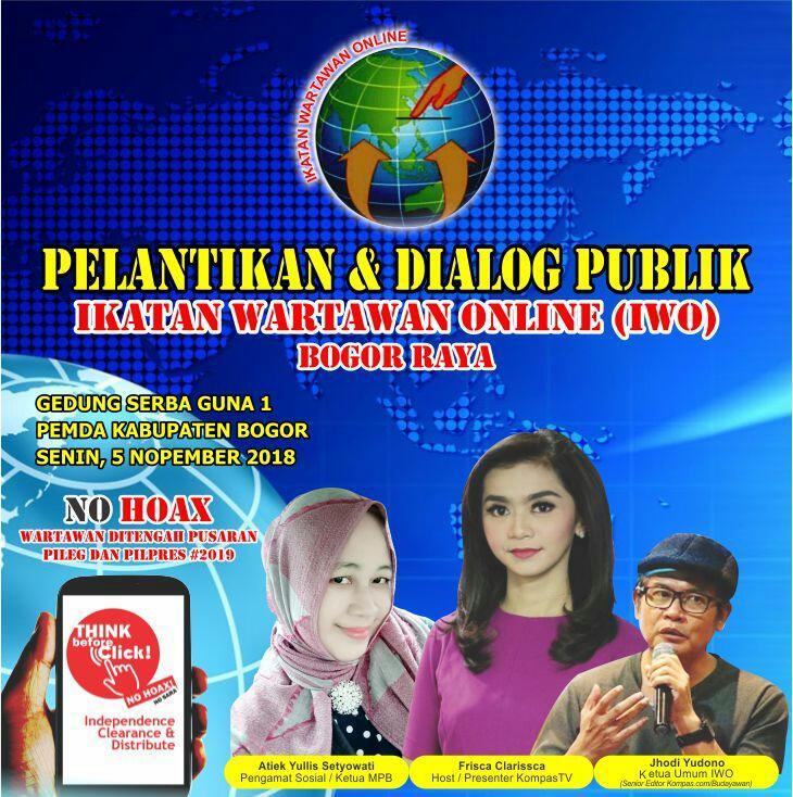 Persiapan Pelantikan Pengurus IWO Bogor Raya Diwarnai Dialog Publik di Bumi Tegar Beriman