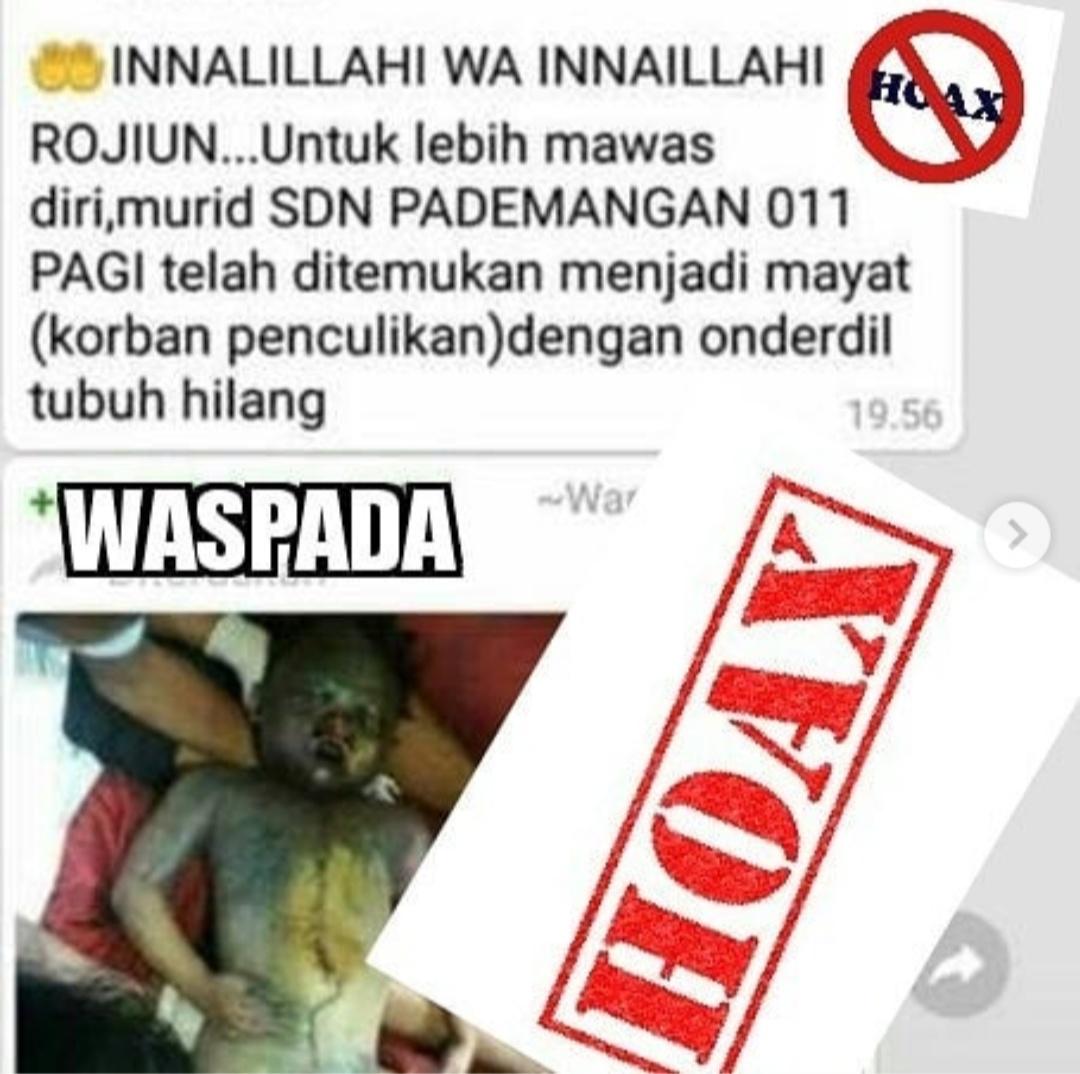"Viral Anak SD Diculik Kapolsek Pademangan"" Itu Kabar Bohong"" Haox"