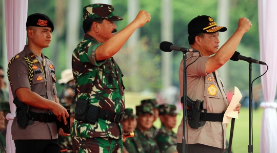 Apel Kesiapan TNI Dan Polri Dalam Rangka Pengamanan Natal, Tahun Baru Dan Pilpres 2019