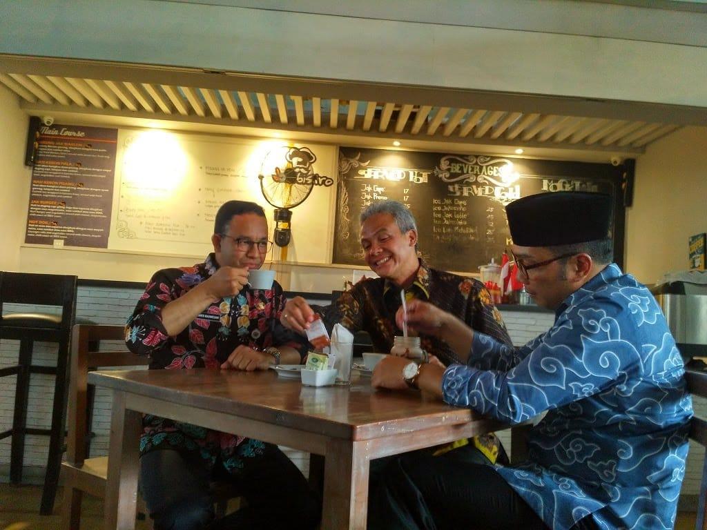 Tiga Kepala Daerah ARG Adakan Ngopi Bareng Di Balai Kota DKI Jakarta