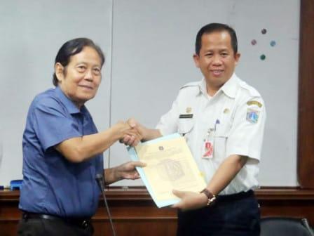Pemkot Jakut Terima Aset Lahan di Jl Mangga Dua Raya