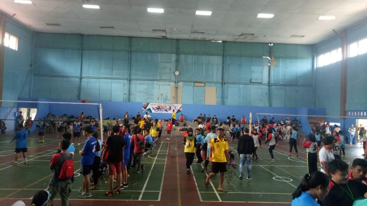 Turnamen Bola Volly Libatkan 17 Tim Dalam Ajang Olahraga Rakyat