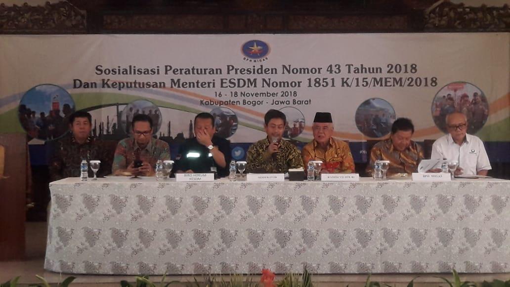 Kementrian ESDM Sosialisasi Perpres Nomor 43 Tahun 2018 di Bogor
