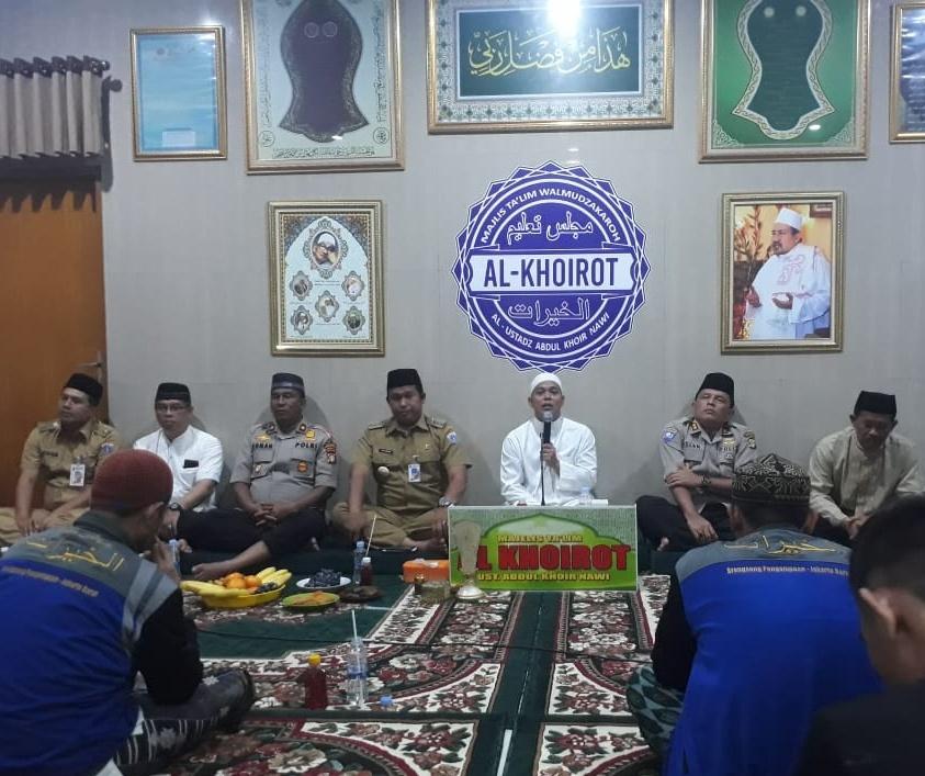 Majelis Ta'lim Wal Mudzakaroh Al Khoirot Gelar Deklarasi Pemilu Damai Di Hadiri Tiga Pilar