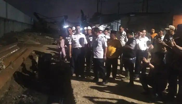 Gubernur DKI Jakarta Anies Baswedan Tinjau NCICD Di Kamal Muara Jakarta Utara