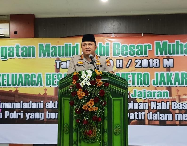 """Peringati Maulid Nabi Muhammad SAW, Kapolres Metro JakBar"""" Perubahan Mindset Dan Culture Set Menuju Polisi yang Promoter"""