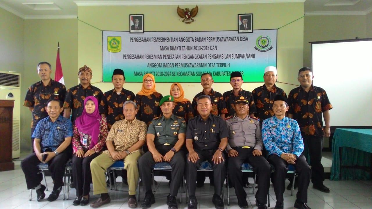 Camat Sukaraja Lantik Anggota BPD' Tiga Belas Desa