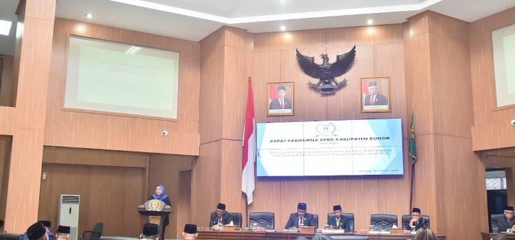 Rapat Paripurna DPRD Kabupaten Bogor Dengan Membahas Pembentukan Daerah Persiapan Di Kabupaten bogor Barat