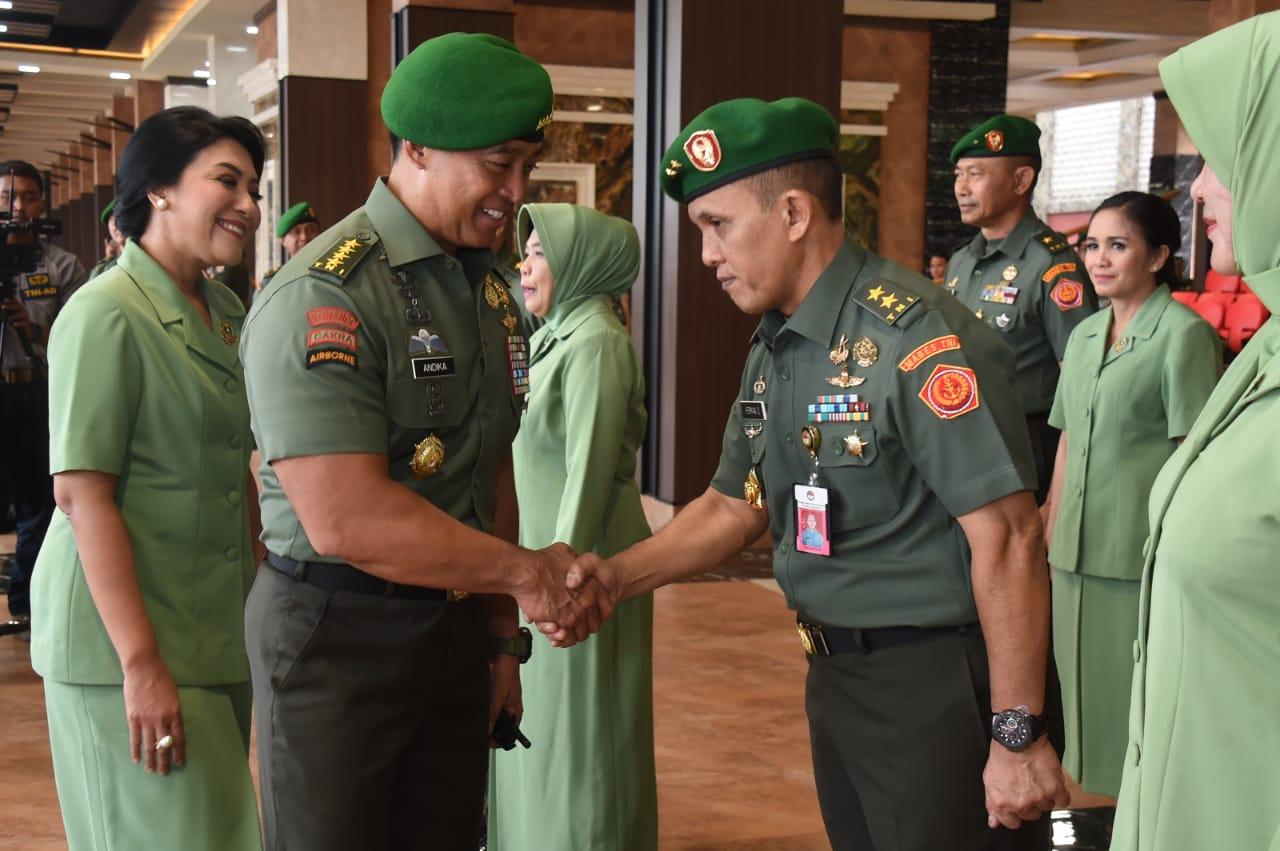 Kasad Terima Kenaikan Pangkat Irjen Kemhan Dan 9 Pati TNI AD