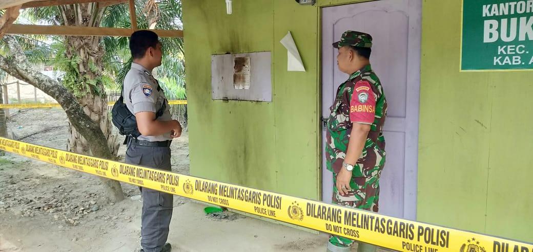 Diduga Bakar OTK Kantor Keuchik Buket Jok Kecamatan Idi Rayeuk