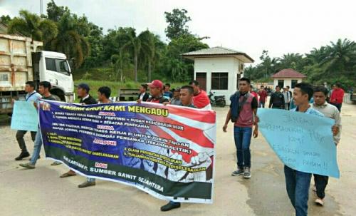 Puluhan Karyawan PT Sumber Sawit Sejahtera Lakukan Aksi Damai, Tuntut Hak yang tertunda