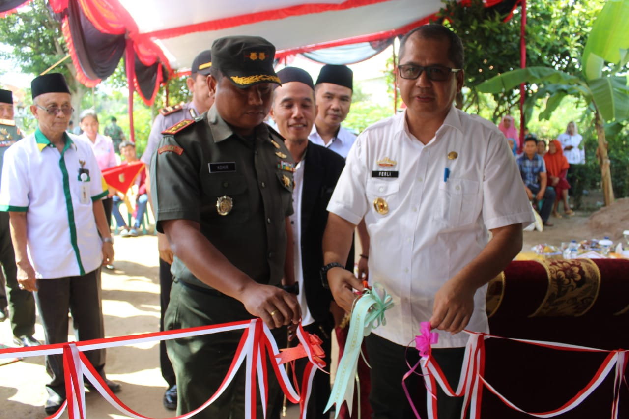 Kerjasma Kodim 0426 Bersama Baznas Tuba Berhasil Membedah 6 Unit Rumah Tidak Layak Huni