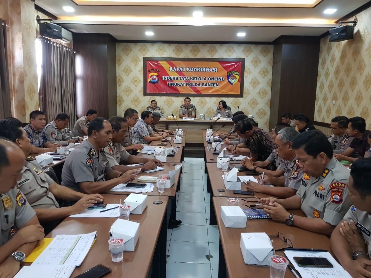 Rapat Koordinasi Tim Pokja Indeks Tata Kelola Online Tingkat Polda Banten
