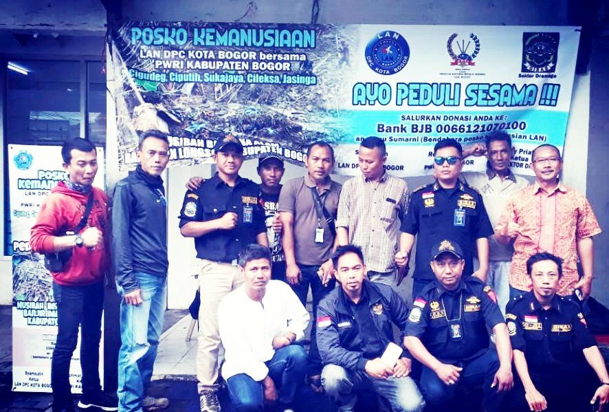 Gibas, LAN Bersama PWRI Bogor Mengadakan Kegiatan Pengimpunan Bantuan Korban Banjir Dan Longsor