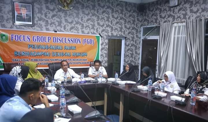 Dinas Sosial Pemberdayaan Pemberdayaan Perempuan Dan Anak Meranti Gelar FGD Penanganan Anak Berhadapan Dengan Hukum