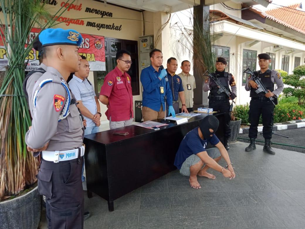 Seorang Sopir Diringkus Tekap 308 Polres Lampung Utara, Karena MemerasSeorang Ibu Rumah Tangga
