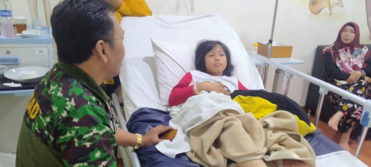 Ganies Korban Kecelakaan di Rawat