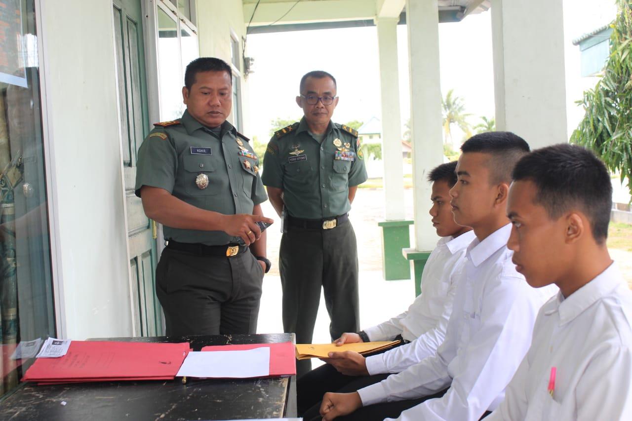 Dandim 0426 Beri Motivasi Kepada Peserta Pendaftar Calon Tamtama TNI AD