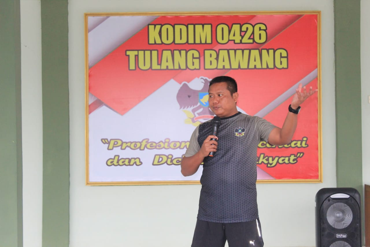 Dandim 0426 Tulang Bawang Cek Kesiapan Seleksi Para Pendaftar Calon Tamtama TNI- AD