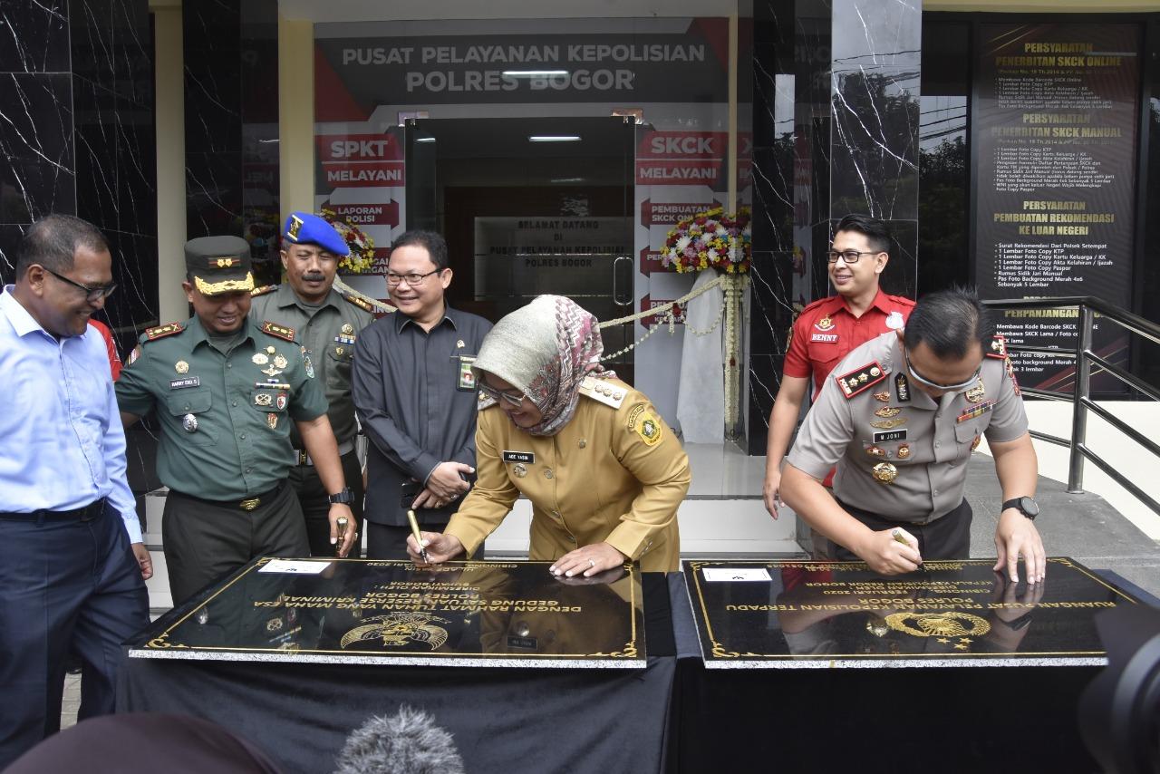 Bupati Ade Yasin Resmikan Gedung Pelayanan Publik Polres Bogor