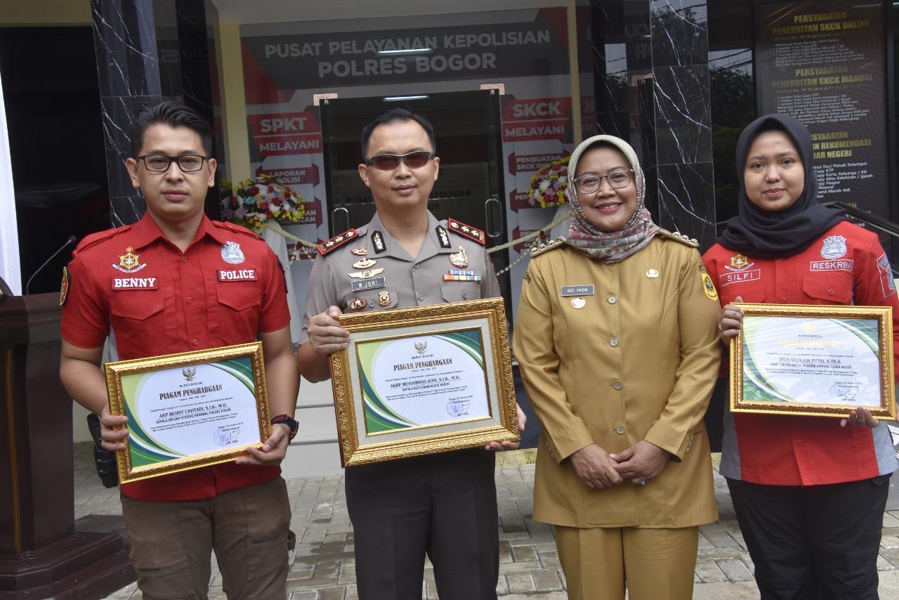 Bupati Apresiasi Kepada Kapolres Bogor dan Anggota Dalam Pengungkapan Kasus Kawin Kontrak