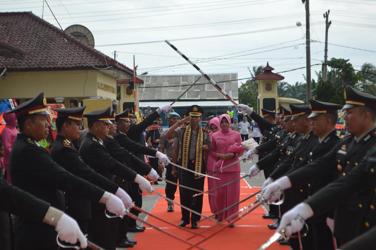 Berikut Rangkaian Acara Wellcome And Farewell Parade Kapolres Tulang Bawang