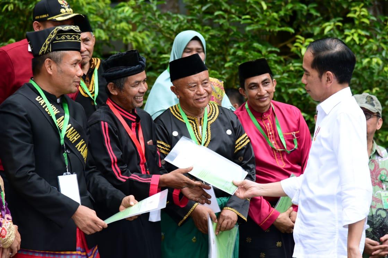 20.890 Kepala Keluarga, Presiden Jokowi Menyerahkan 41 SK di Provinsi Riau