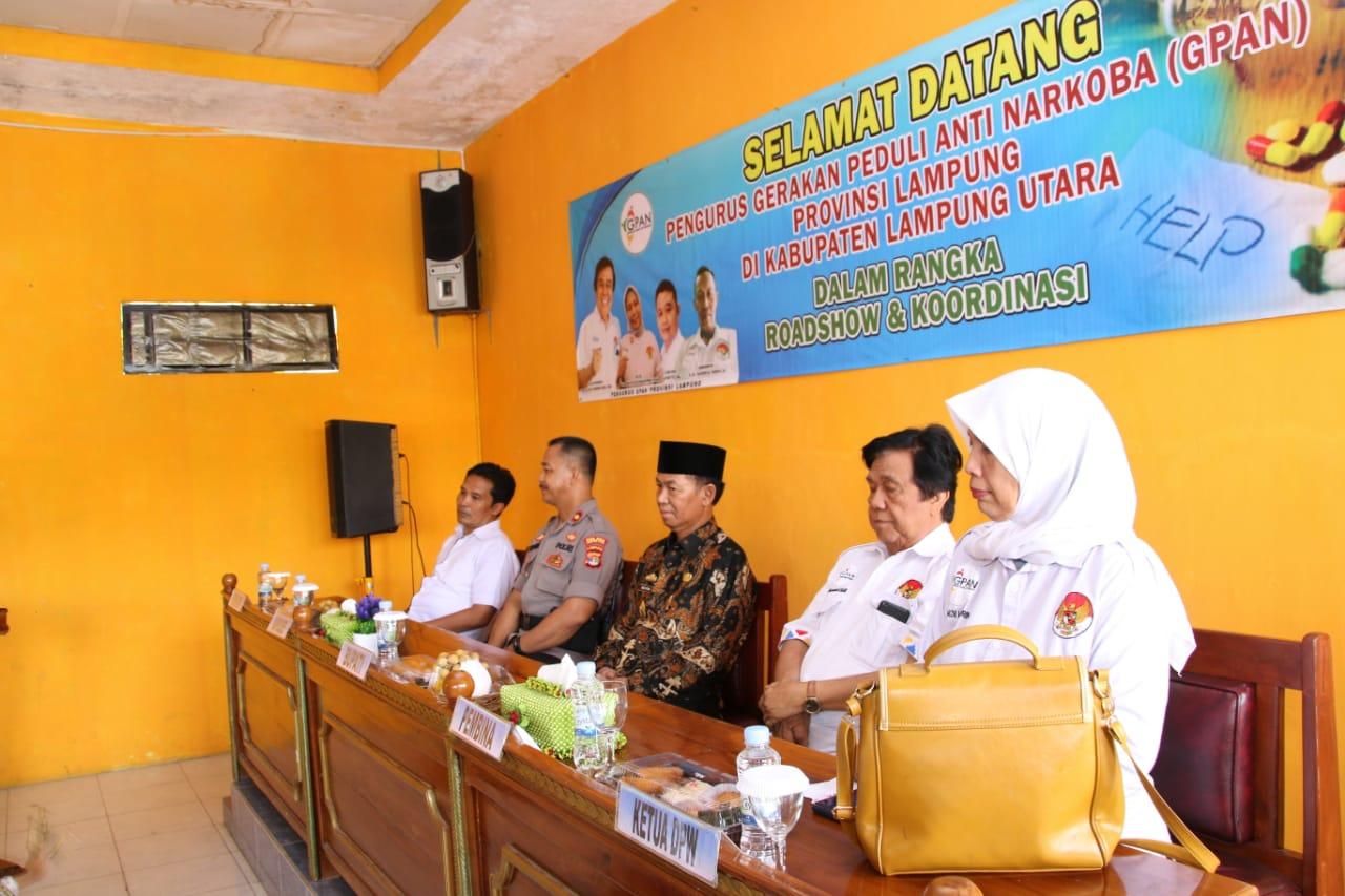 Bupati Lampura Menghadiri Acara Road Show Gerakan Penduli Anti Narkoba Provinsi Lampung