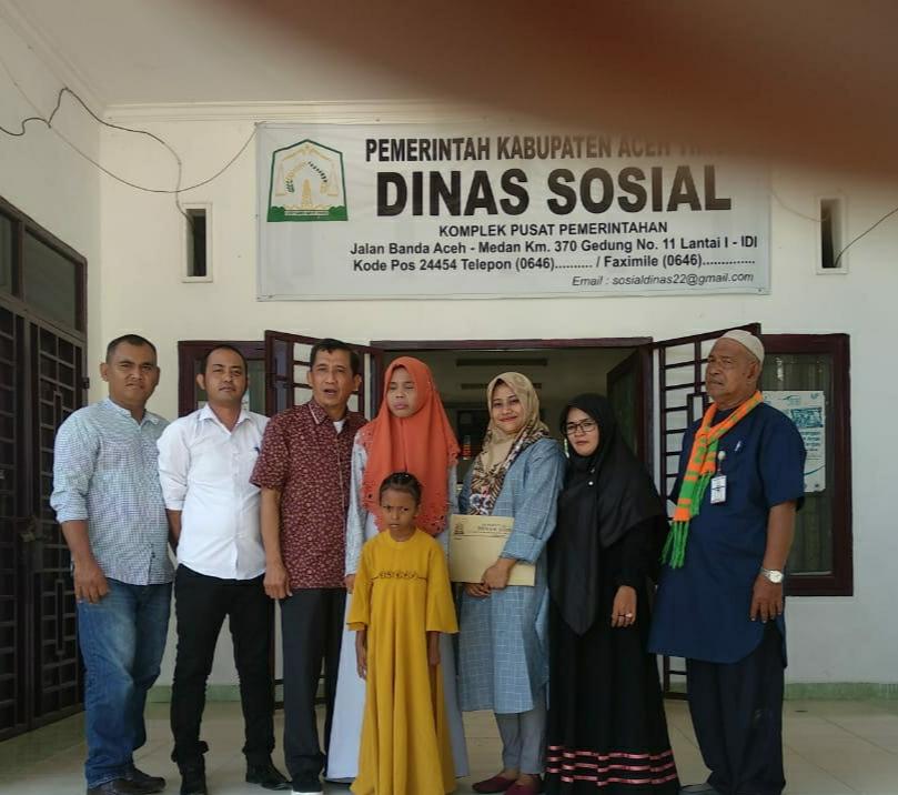 Dua Anak Tuna Netra Aceh Timur Mendapatkan Pembinaan Yang Layak