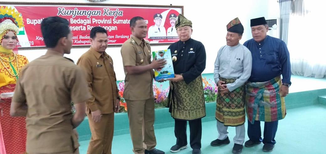 Bupati Kabupaten Serdang Sumatra Utara Kunker Revitalisasi Budaya Ke Aceh Timur