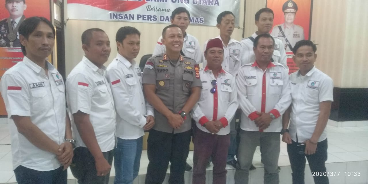 Sinergitas Polri Bersama Insan Pers, Kapolres Lampung Utara Gelar Silaturahmi Dengan Media