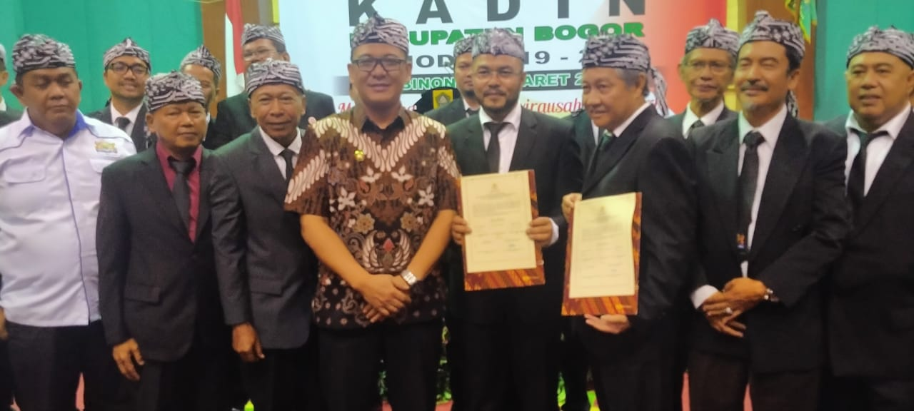 Akhirnya Ketua KADIN Kabupaten Bogor DiLantik