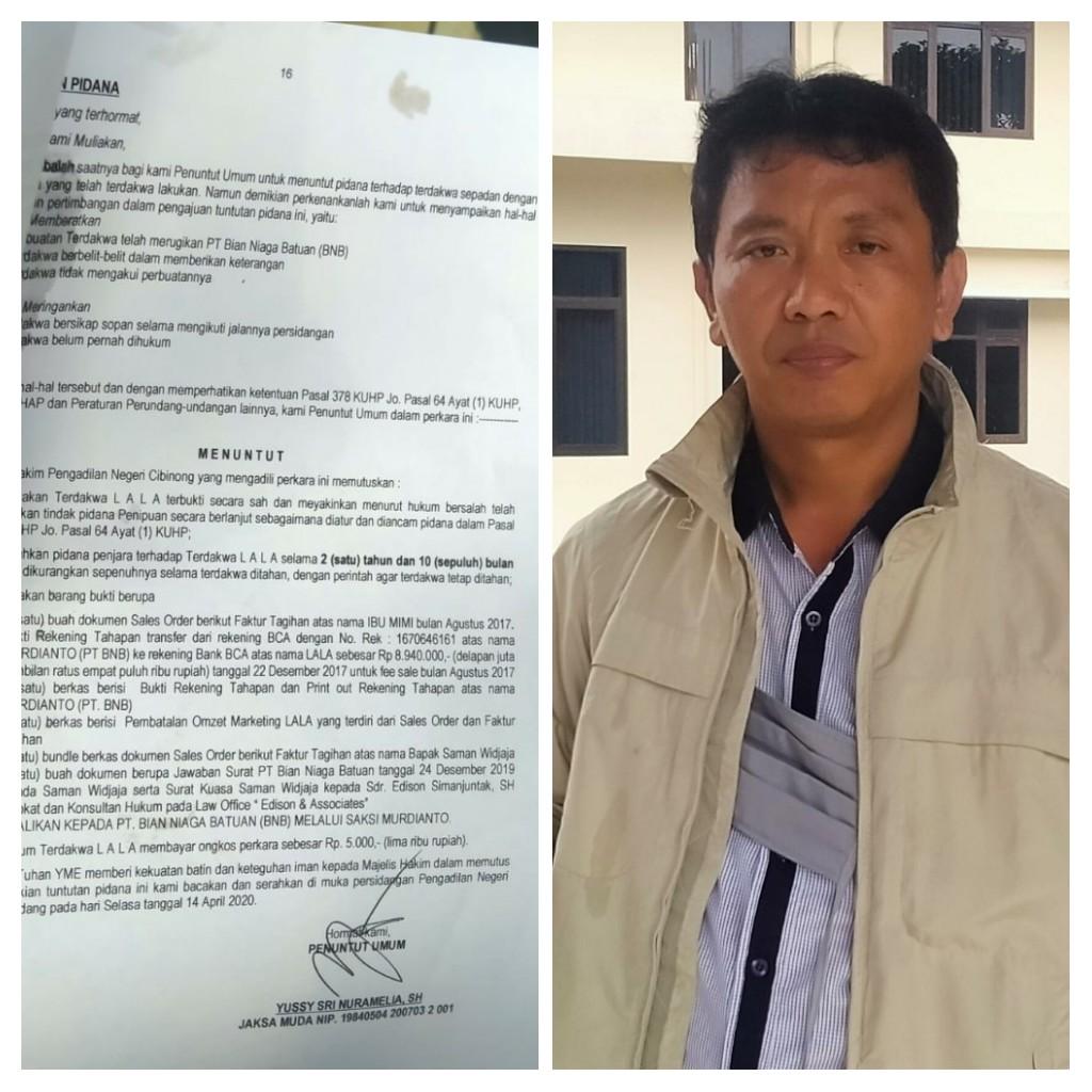 HBS, Tuntutan Jaksa Subyektif Ngawur & Emosional