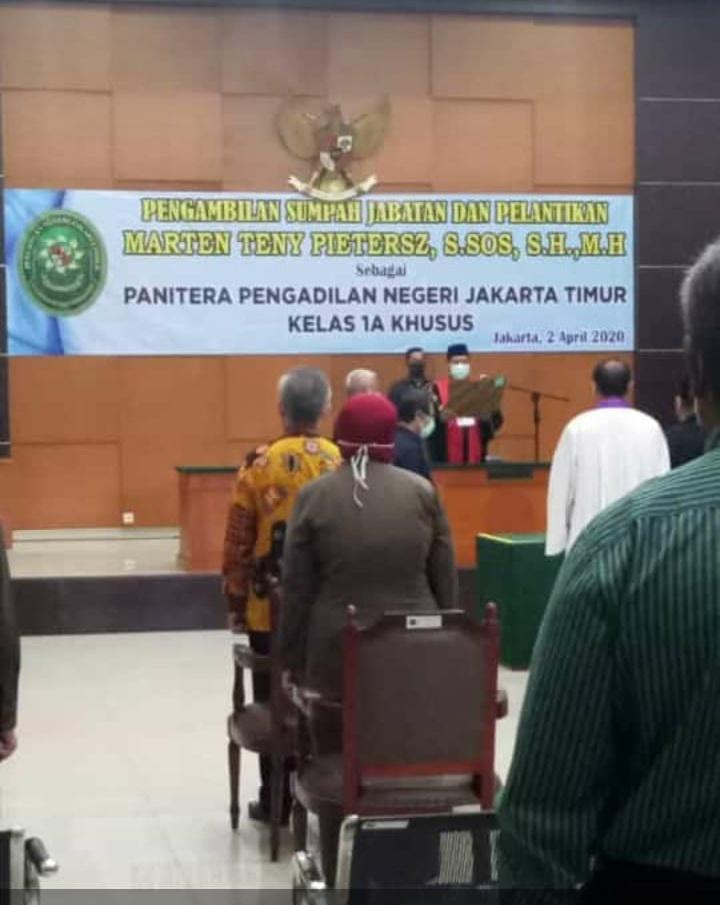 Pengambilan Sumpah Jabatan dan Pelantikan Panitera PN Jaktim