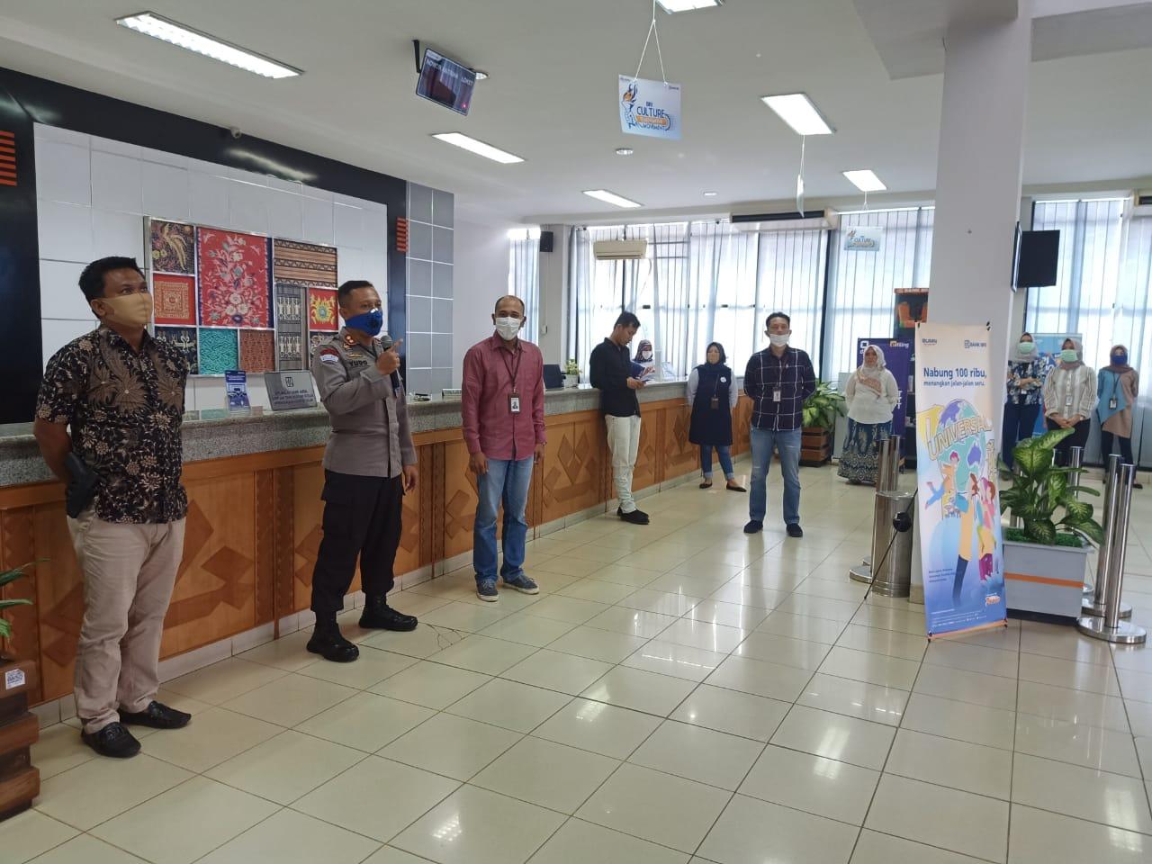 Perangi Covid 19, Kapolres Lampung Utara Ajak Pihak Bank Menjadi Gugus Depan