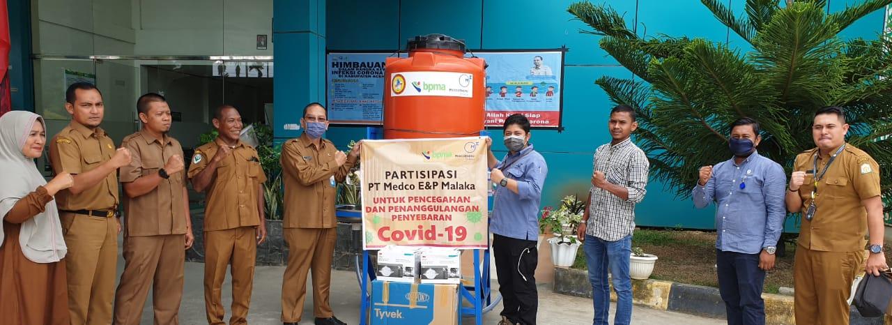 BPMA Dan MEDCO E&P Kembali Salurkan Bantuan Pencegahan COVID-19 DI Aceh Timur