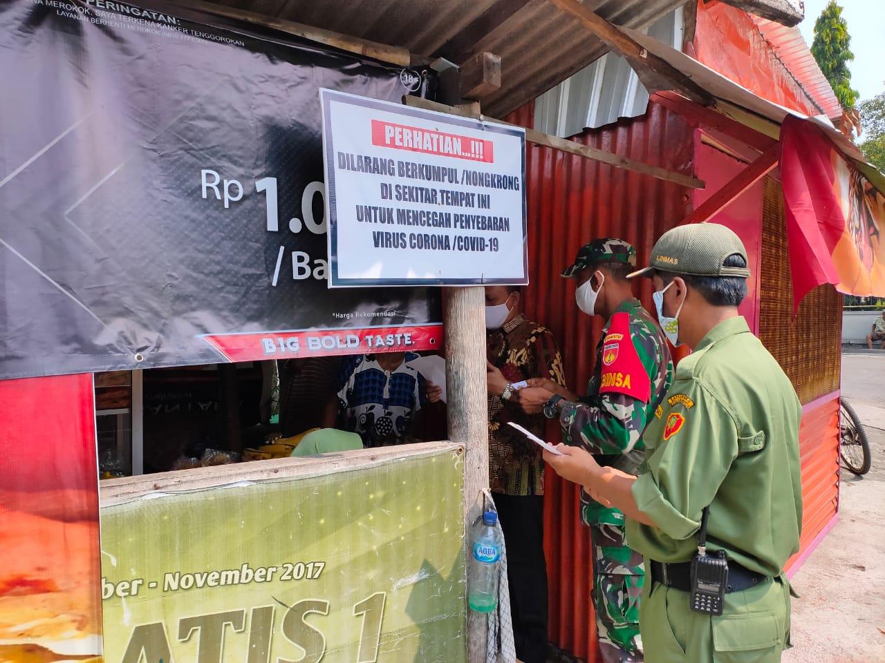 Peran Serta Babinsa Nusukan Dalam Pendataan Penertiban Bangunan Liar