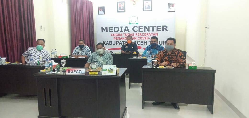 Bupati Aceh Timur dengan Menteri Sosial Koordinasi Melalui Video Conference