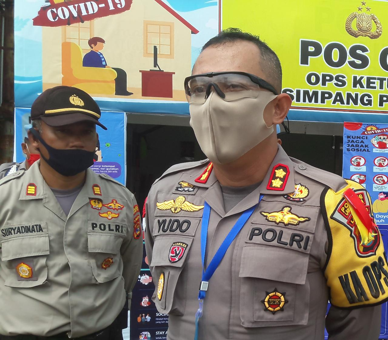 Kapolres Lampung Utara Cek Kesiapan Pos Pam Operasi Ketupat Krakatau 2020