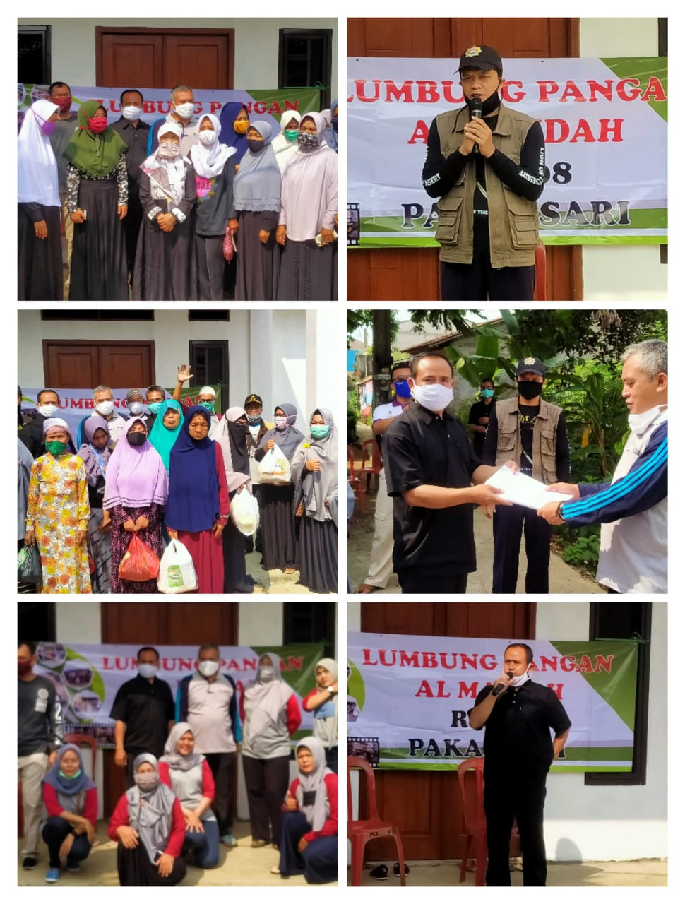 Launching Lumbung Pangan Al Maidah Bagikan 90 Paket Sembako