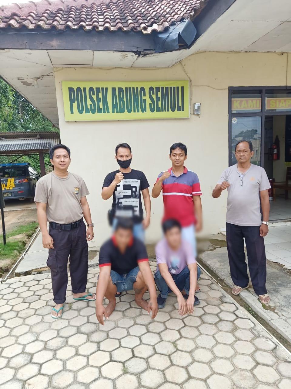 Dua Pelaku curas Berhasil di Ringkus Polsek Abung Semuli