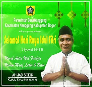 Pemerintah Desa Nanggung Mengucapkan Selamat Idul Fitri 1 Syawal 1441 H